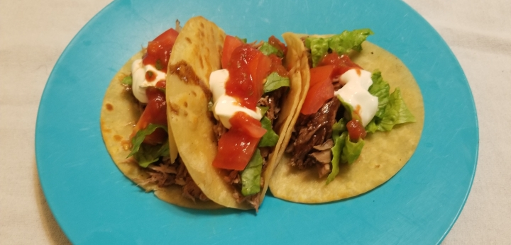 Cocoa Tequila Pulled Pork Tacos