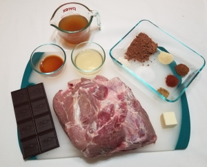 Cocoa Tequila Pulled Pork Ingredients