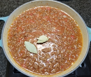 Starting to Simmer Chili